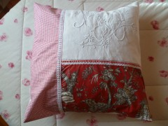 couture,broderie,monogramme ancien